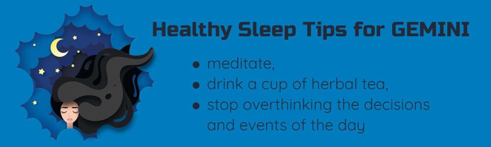 Healthy sleep tips for Gemini