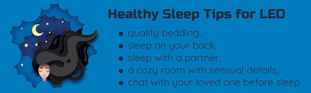 Healthy sleep tips for Leo