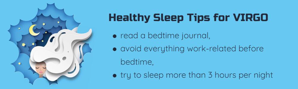 Healthy sleep tips for Virgo