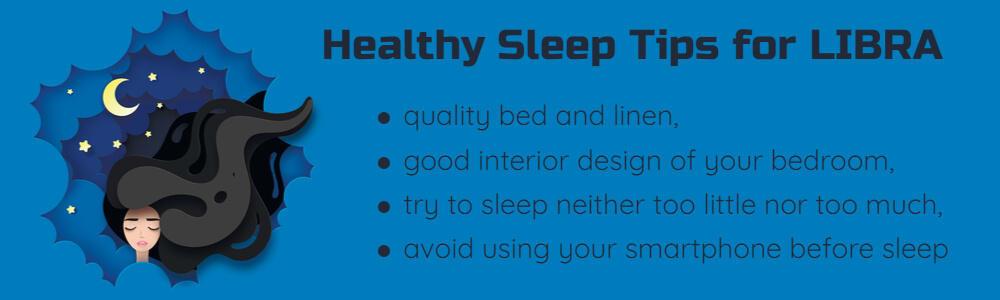Healthy sleep tips for Libra