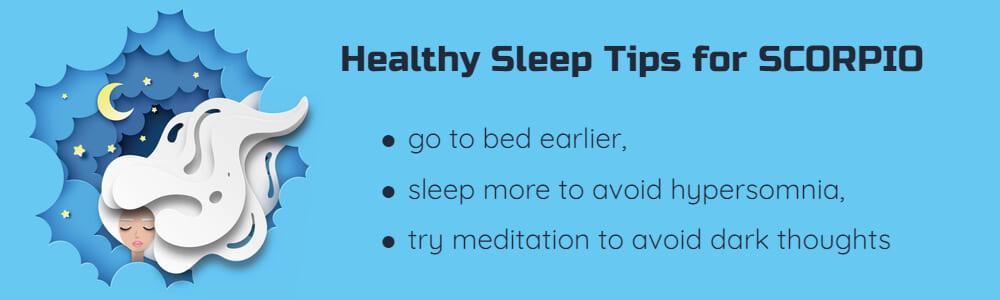 Healthy sleep tips for Scorpio