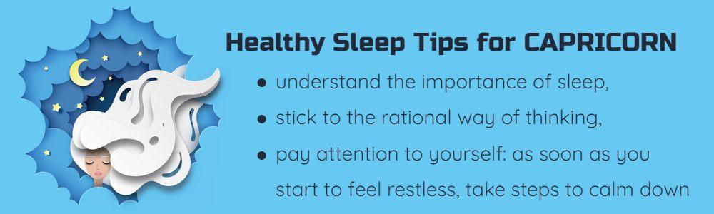 Healthy sleep tips for Capricorn