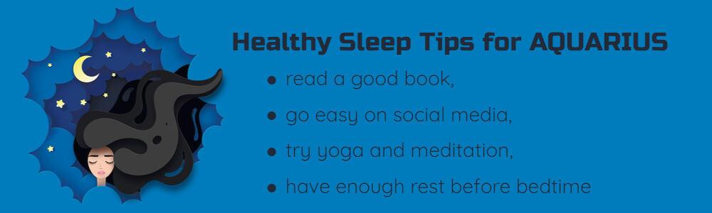 Healthy sleep tips for Aquarius