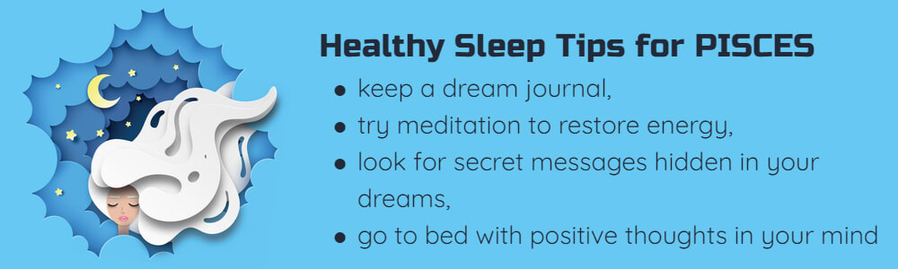 Healthy sleep tips for Pisces