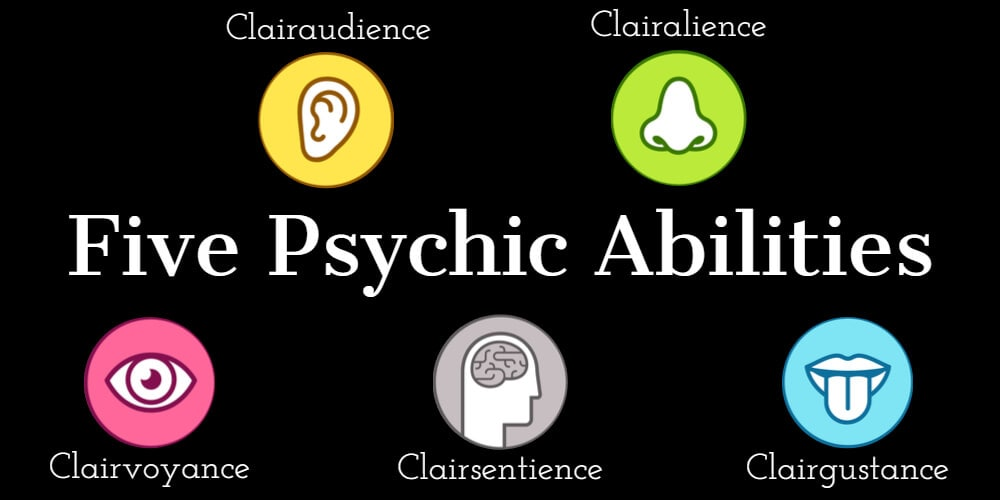There are five different psychic abilities