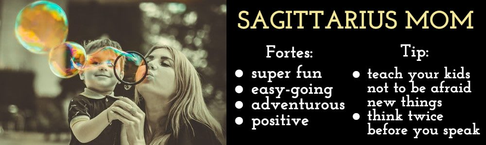 Sagittarius as a mom