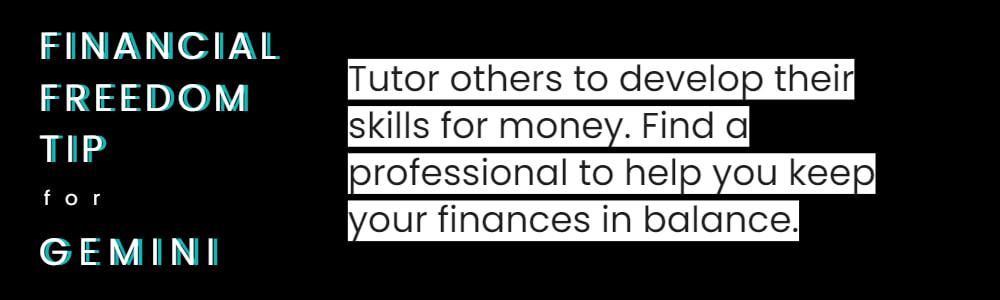 financial tips for Gemini