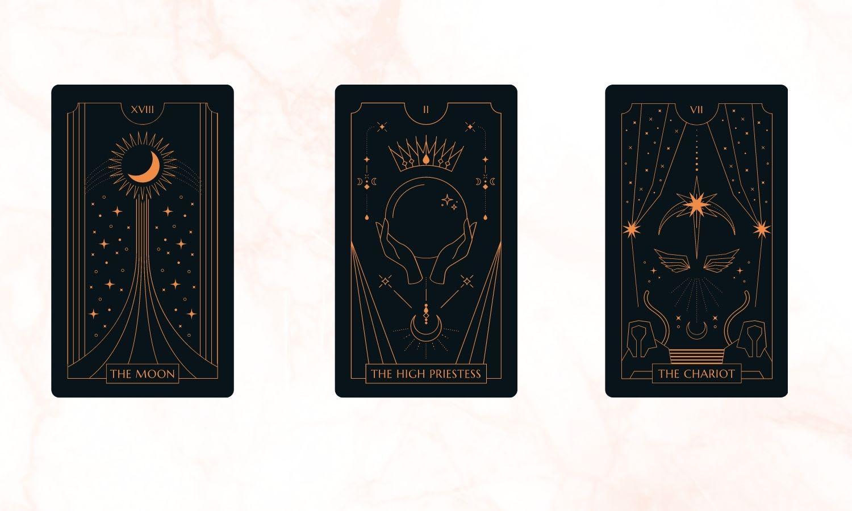 Three-card Tarot spread for prosperity