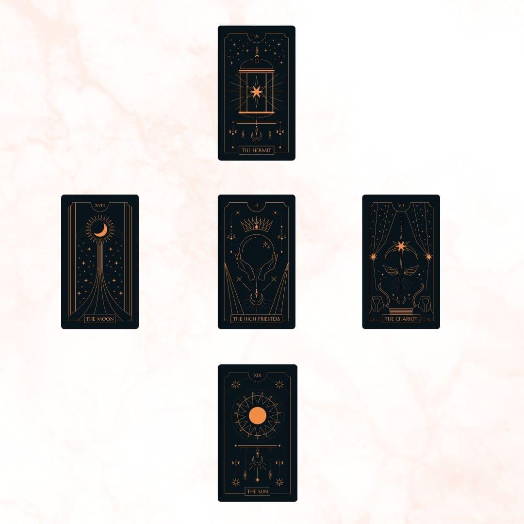 Five-card Tarot spread for prosperity