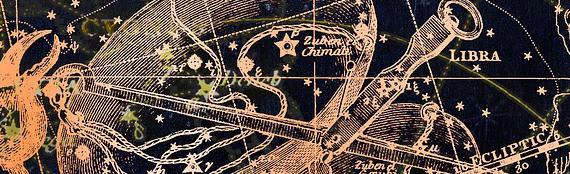 Drawing of Libra Zodiac Constellation Map