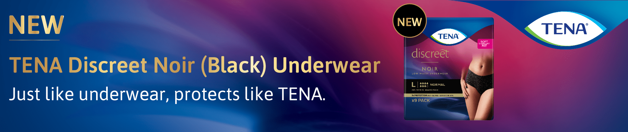 Tena promotion banner