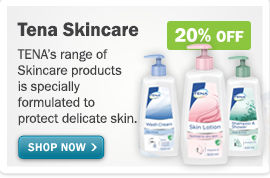 TENA skincare bottles x3