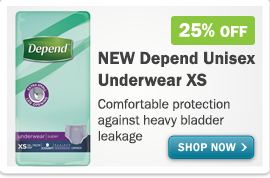 Depend Unisex extra small