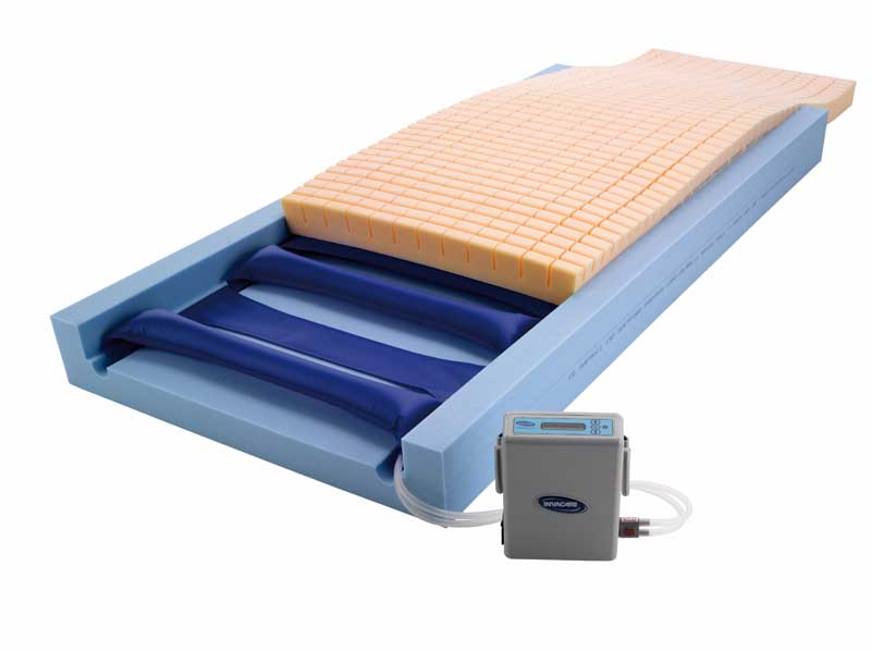 Blue high risk mattress