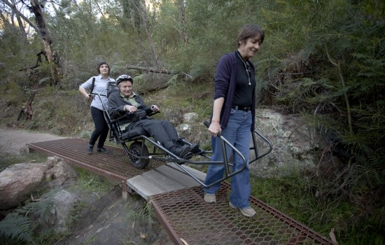 Wheelchair for hiking