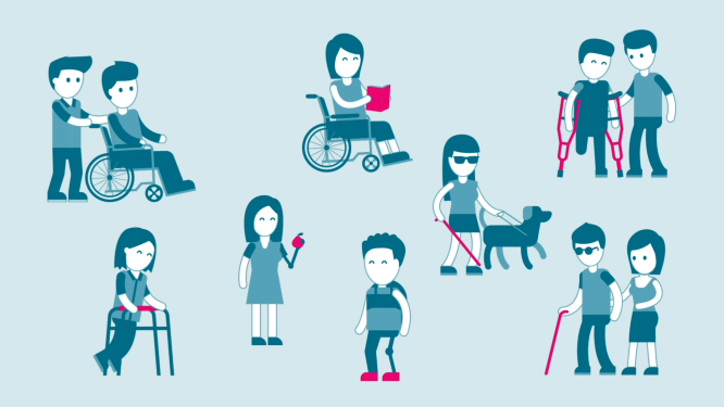 Illustration of disability support