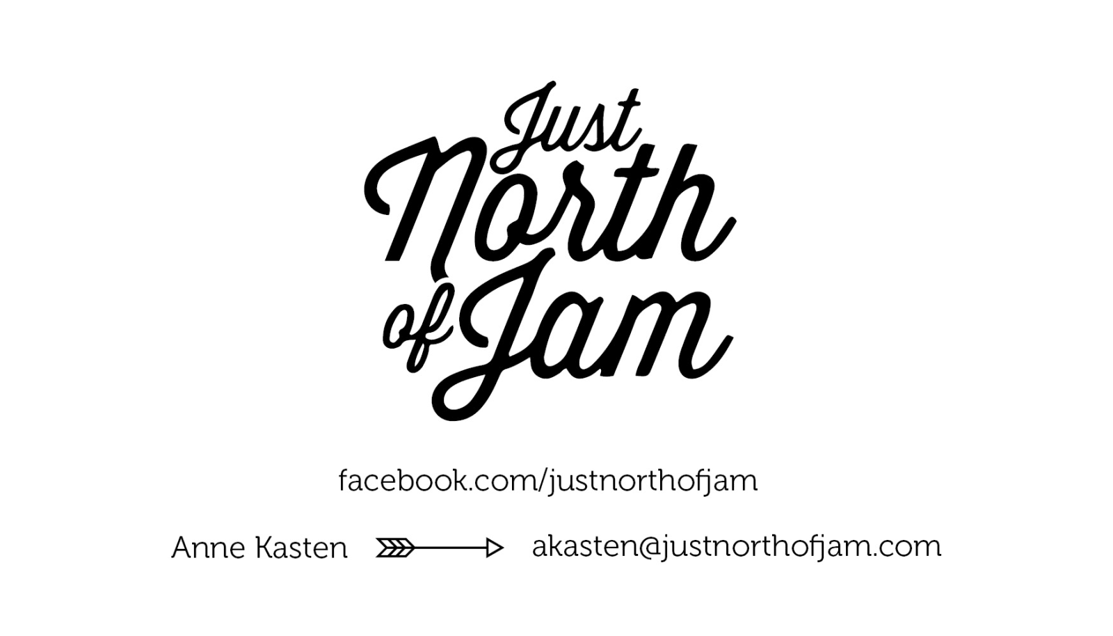 Just North of Jam Business Card 1
