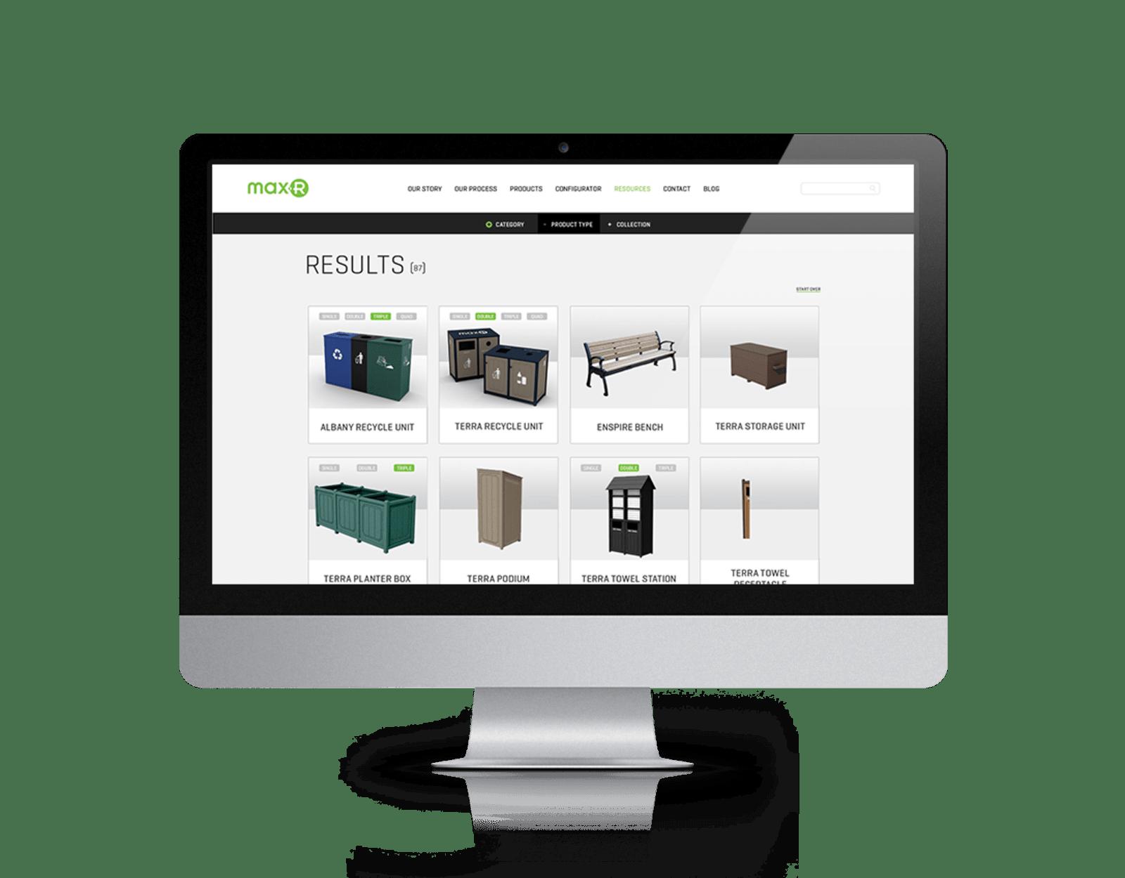 Max-R Website Desktop