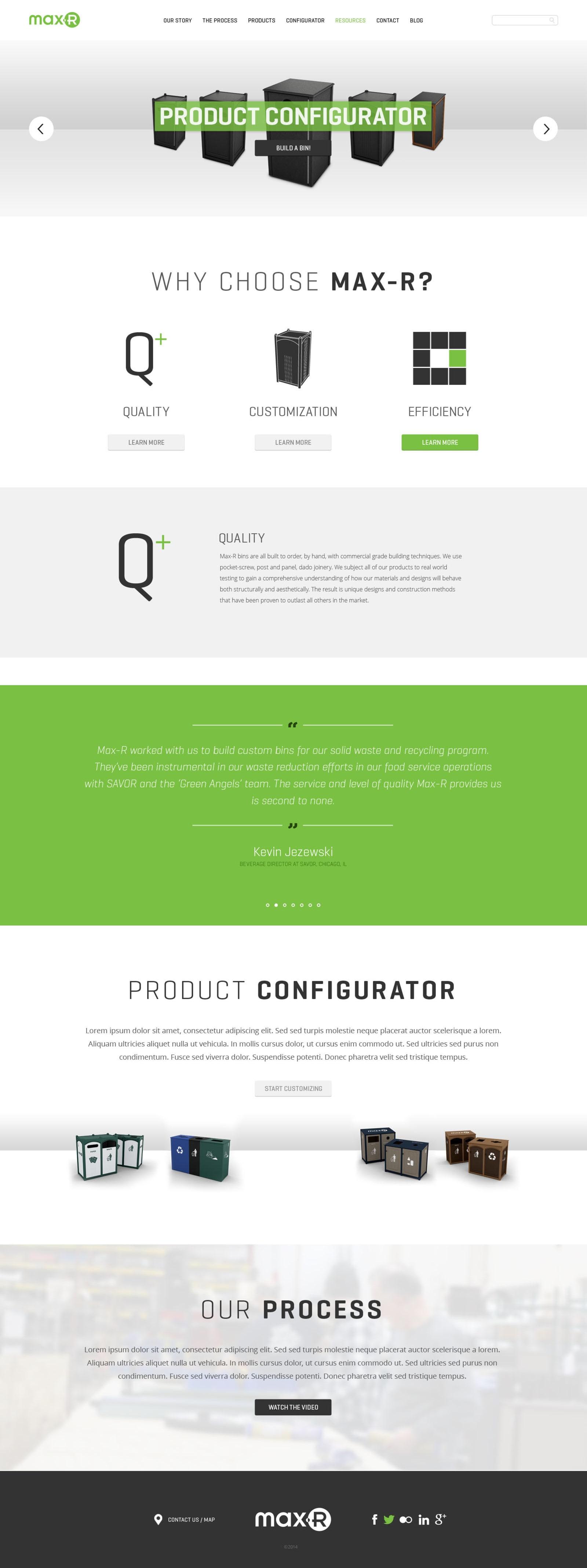Max-R Website Homepage