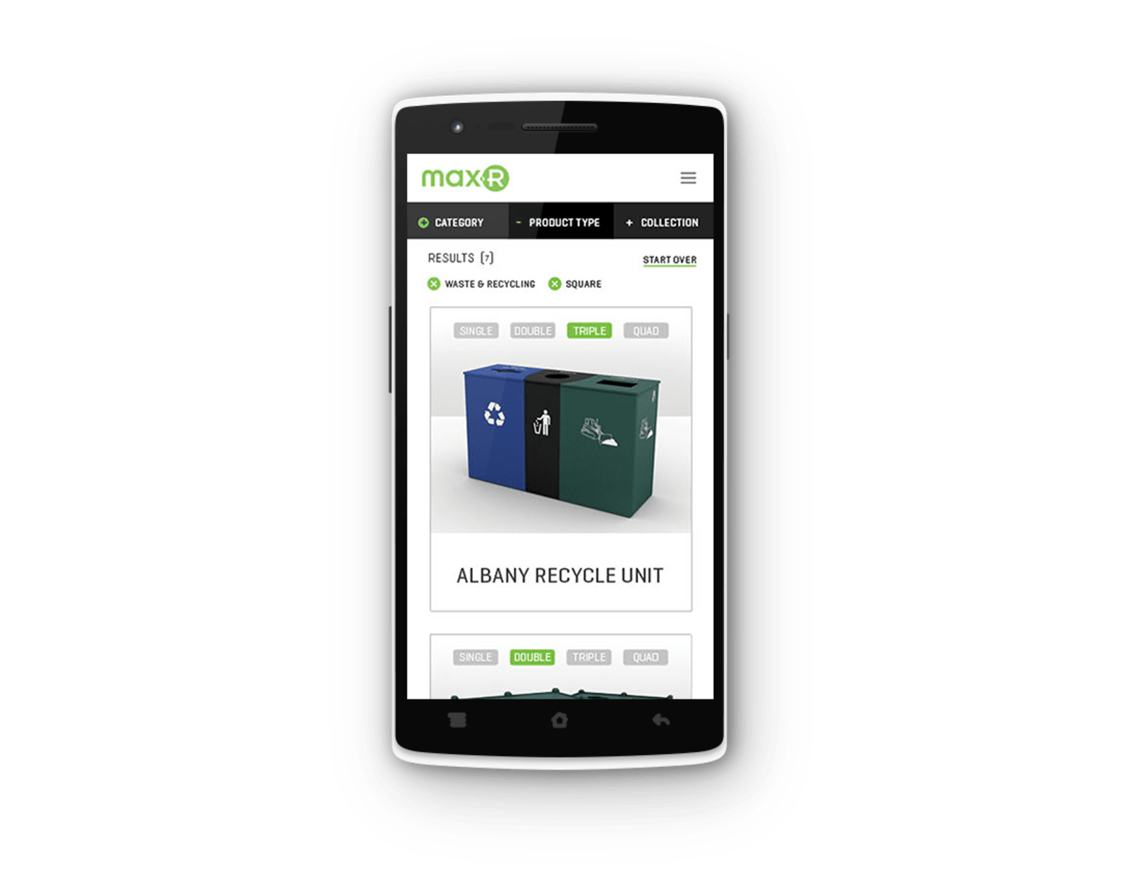 Max-R Website Mobile