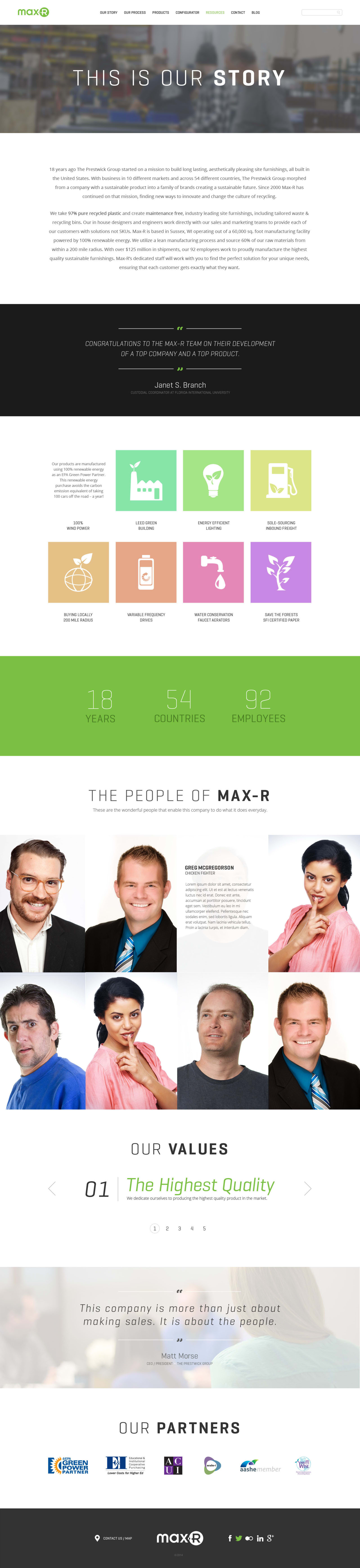 Max-R Website Story Page