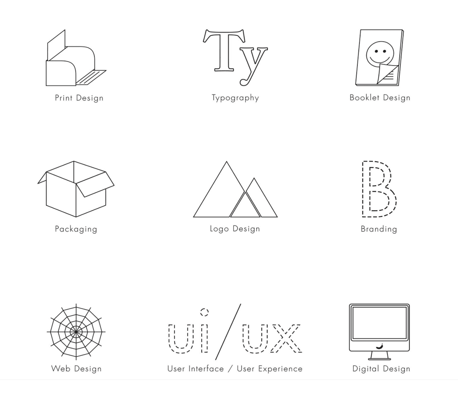 Portfolio Booklet Icons
