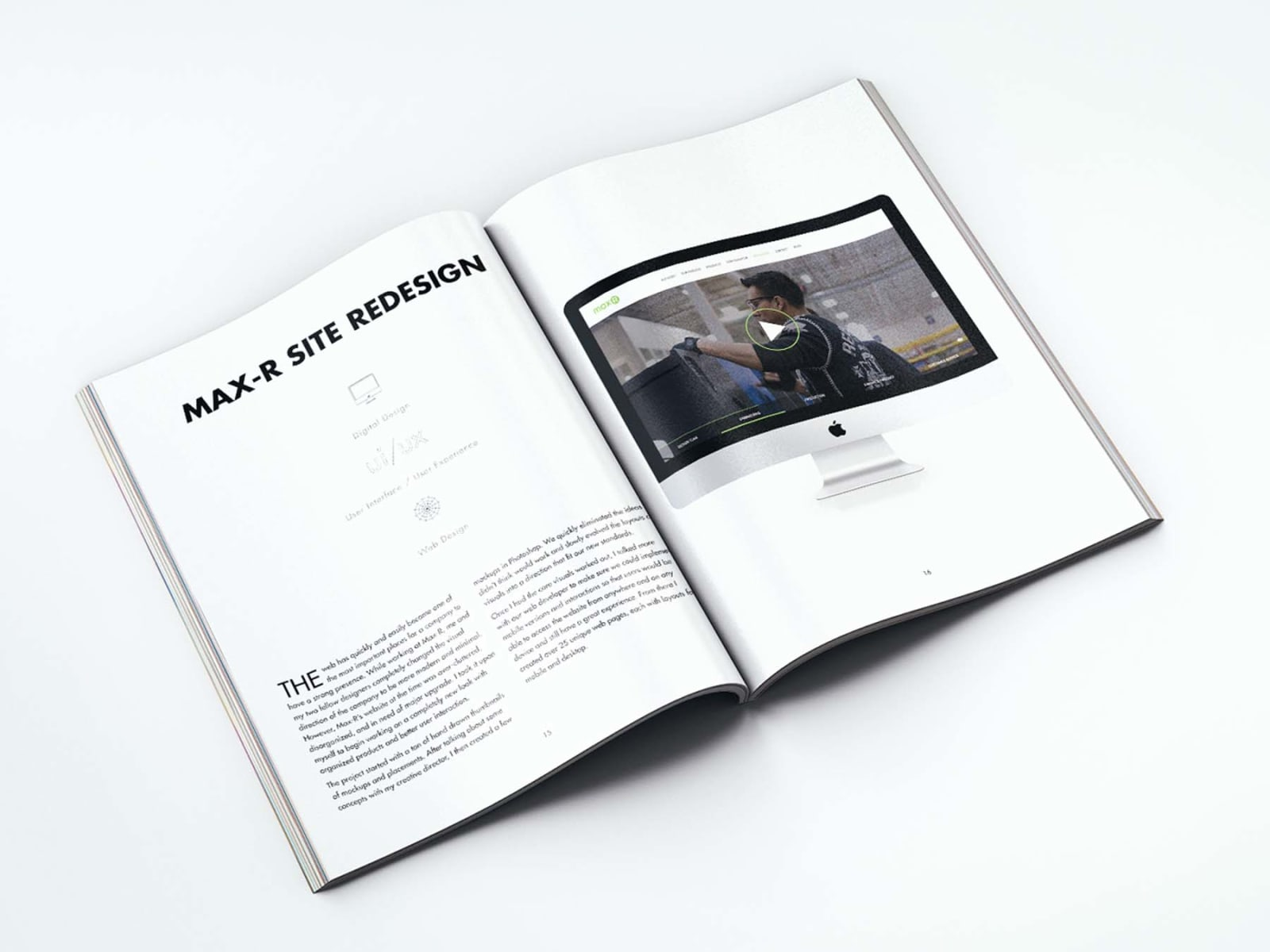 Portfolio Booklet Max-R Website