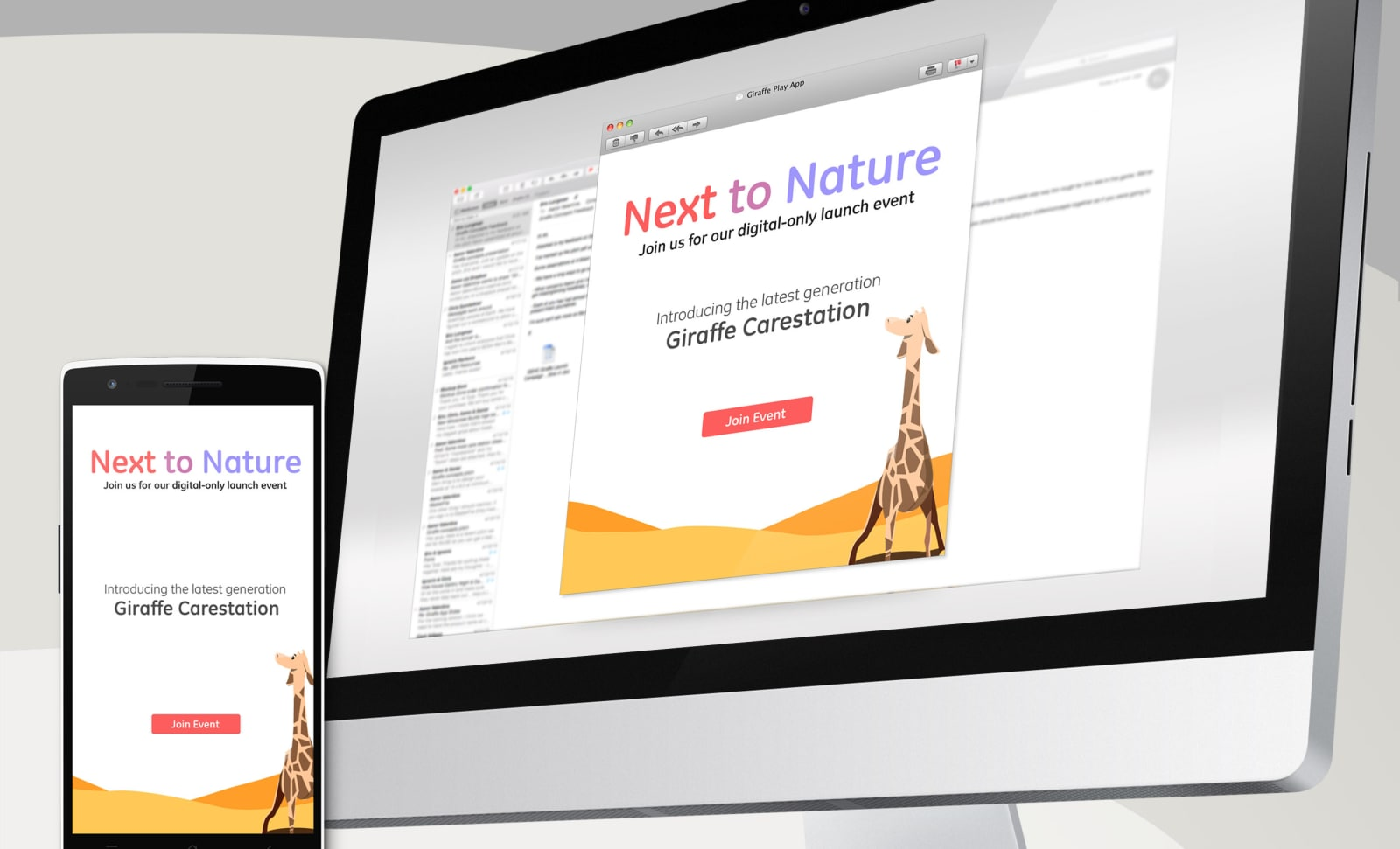 GE Giraffe Carestation Digital Invite