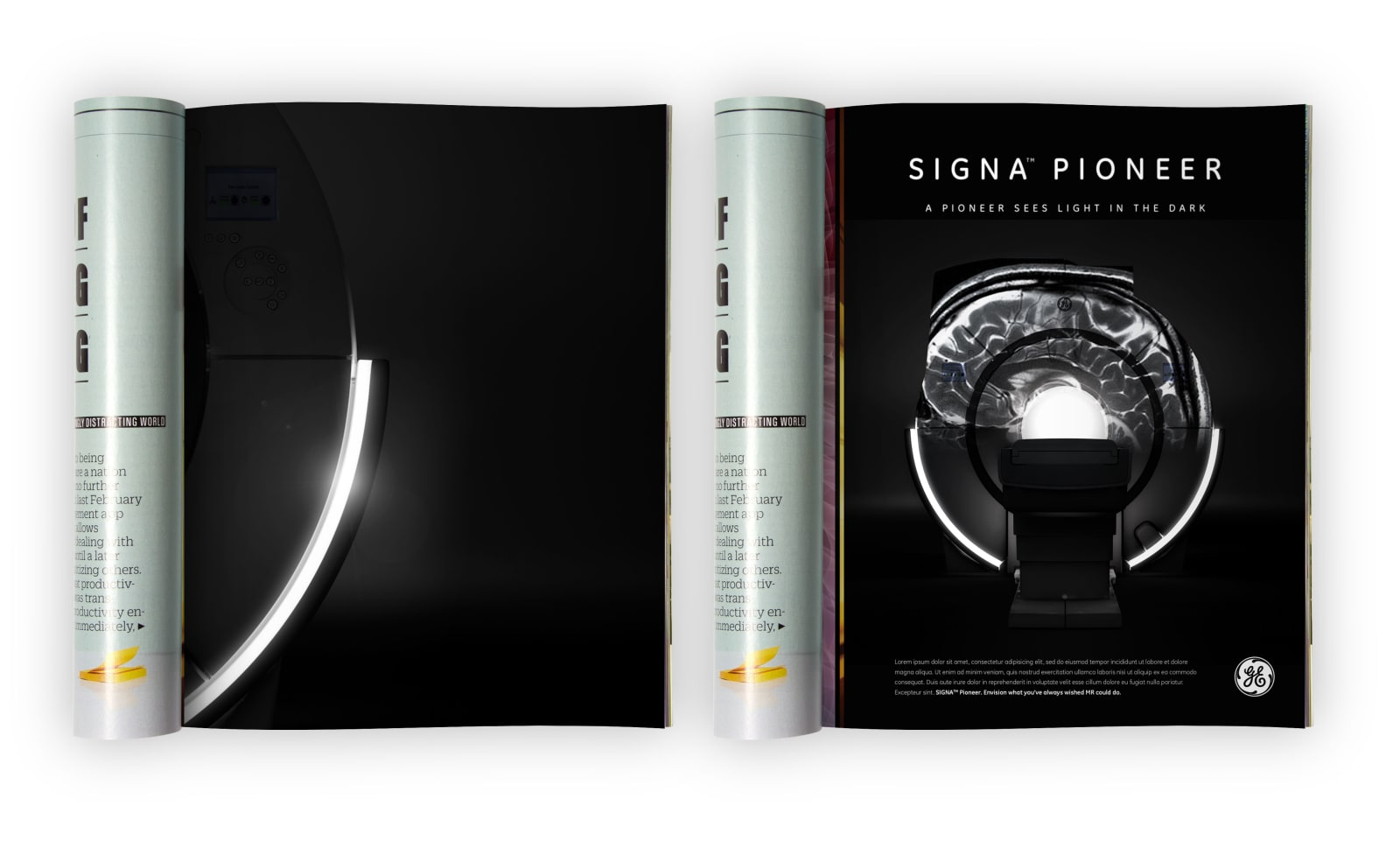 GE Signa Pioneer Illumination Ads