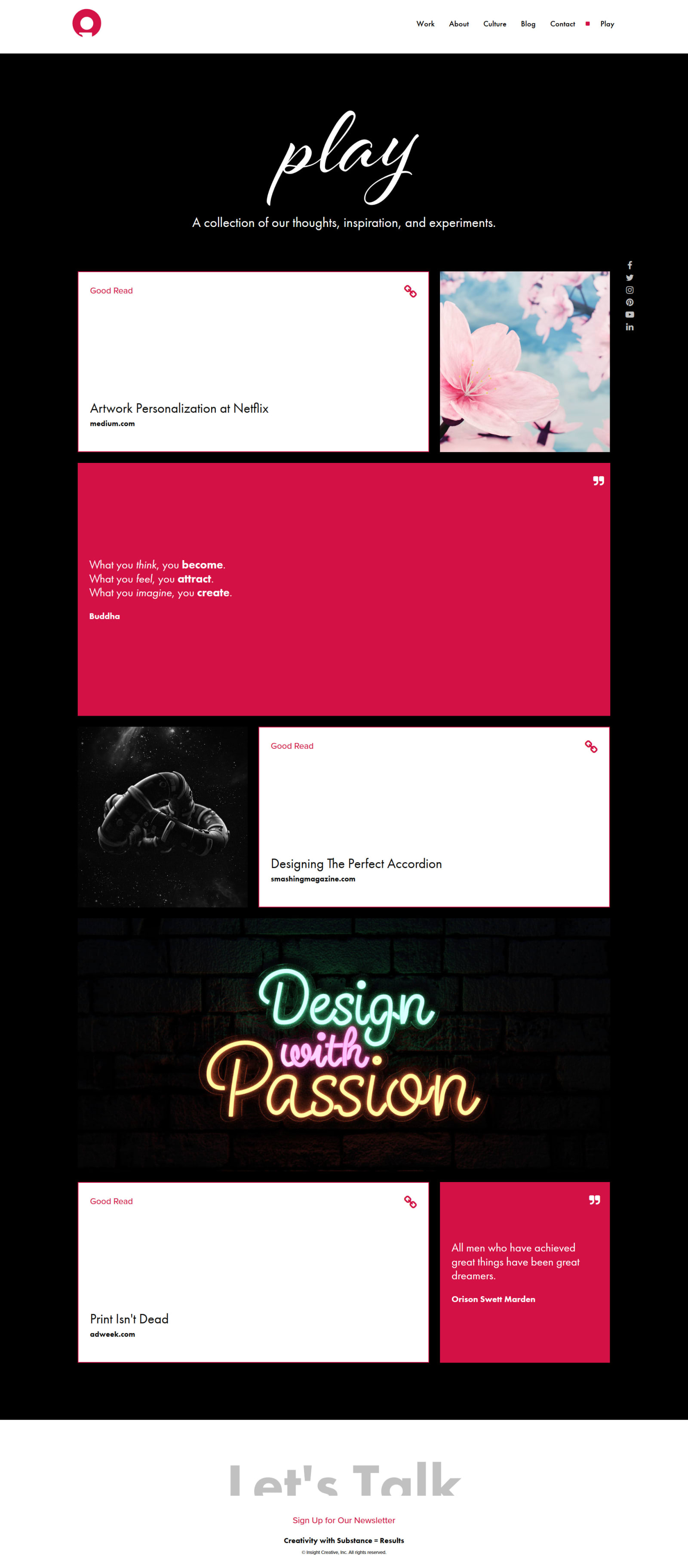 Insight Creative Play Page