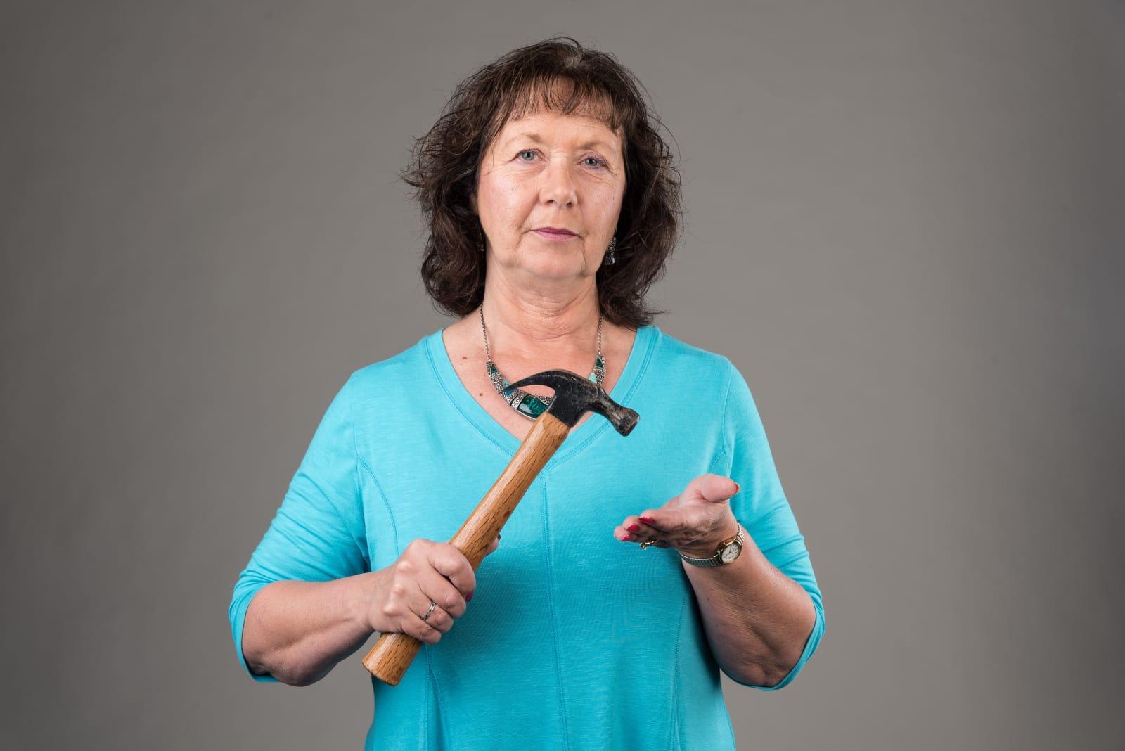 Cindy Struensee with Hammer
