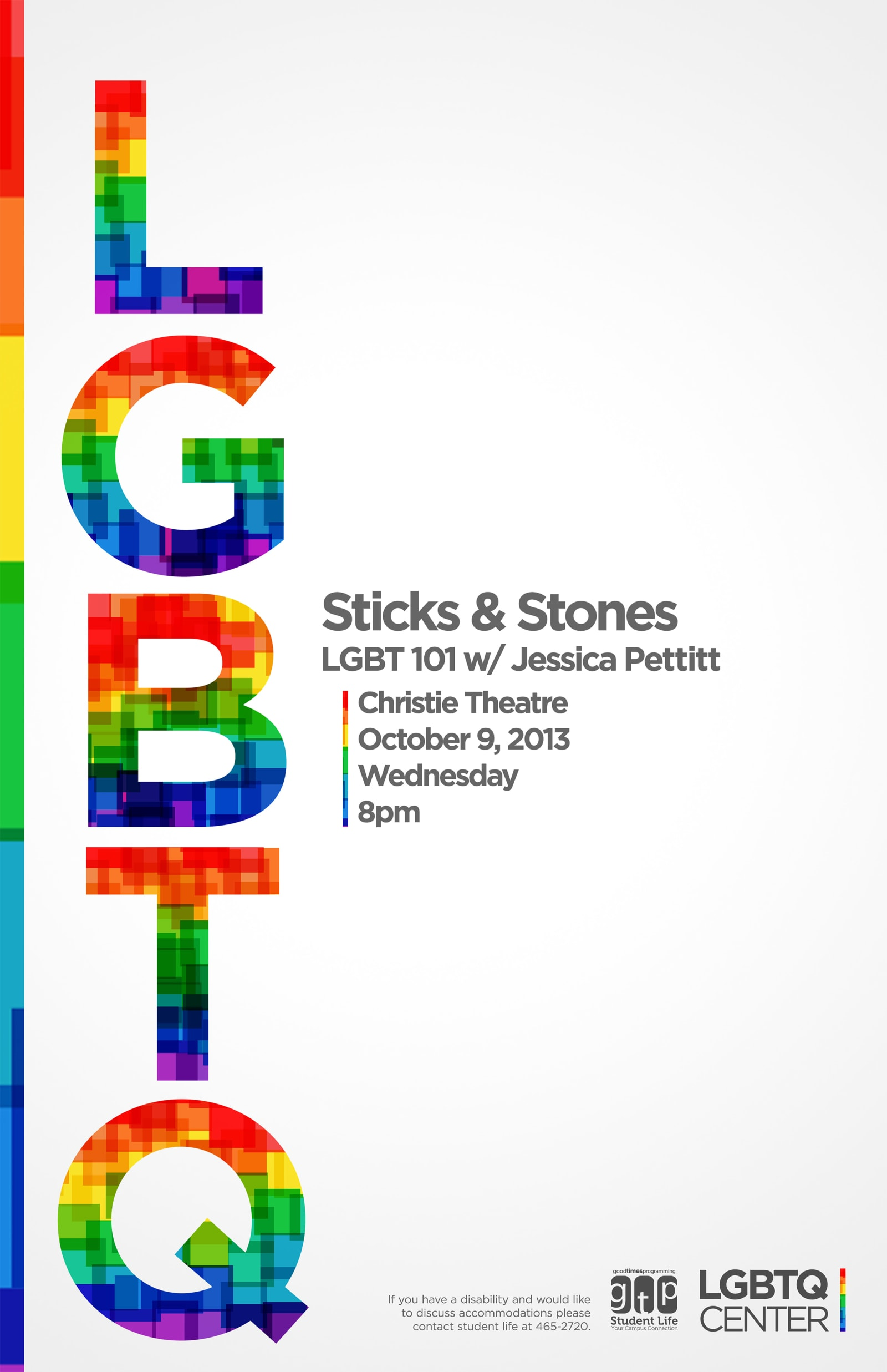 LGBTQ Sticks and Stones Poster