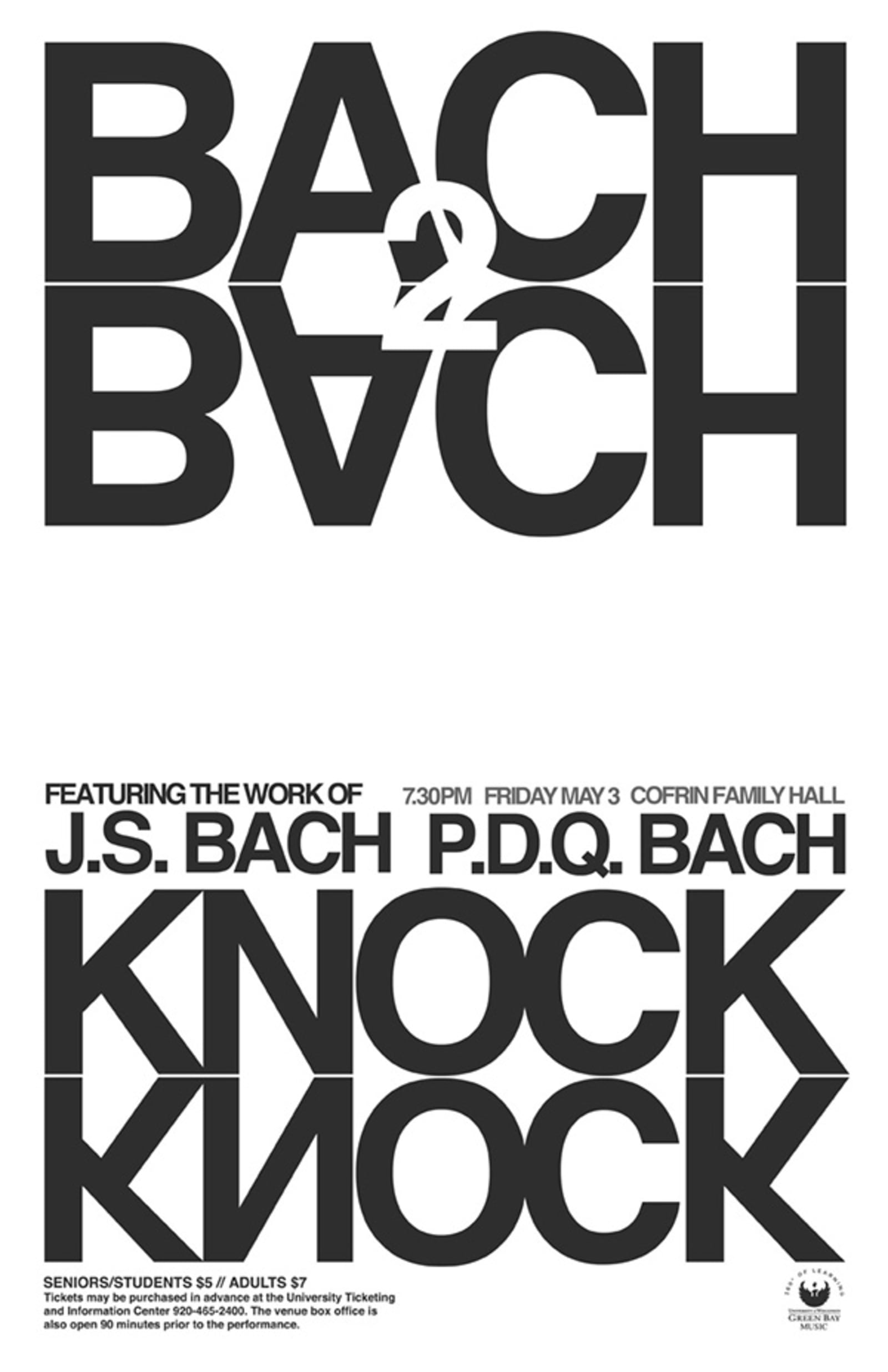 Bach 2 Back Music Poster