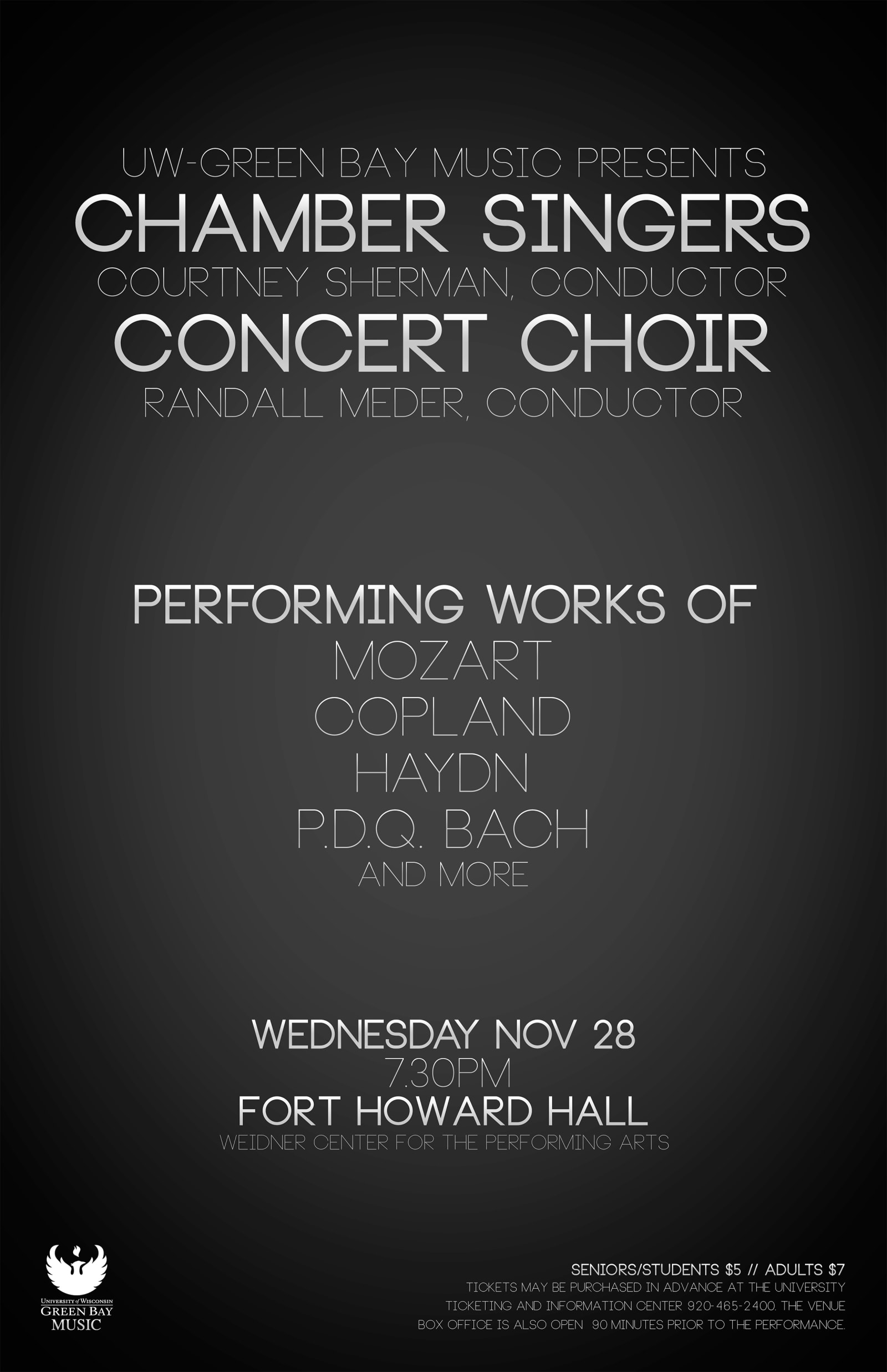 Chamber Singers and Concert Choir Typography Poster