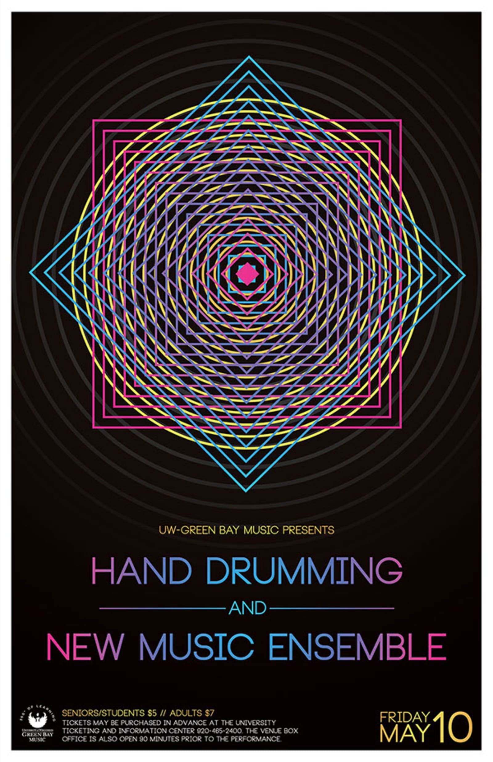 Hand Drumming and New Music Ensemble Color Abstract Poster