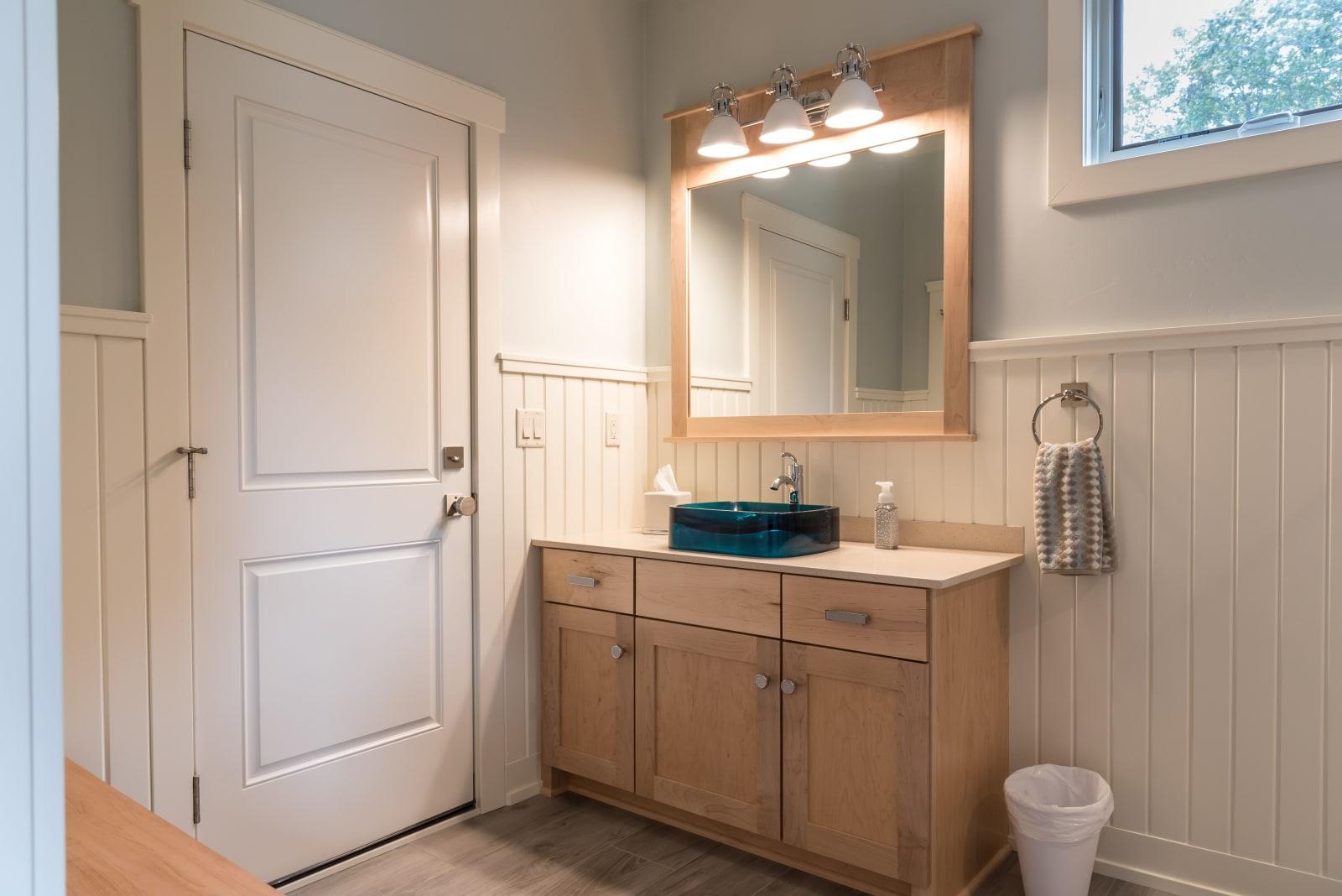 Van's Lumber Photography Guest Bathroom