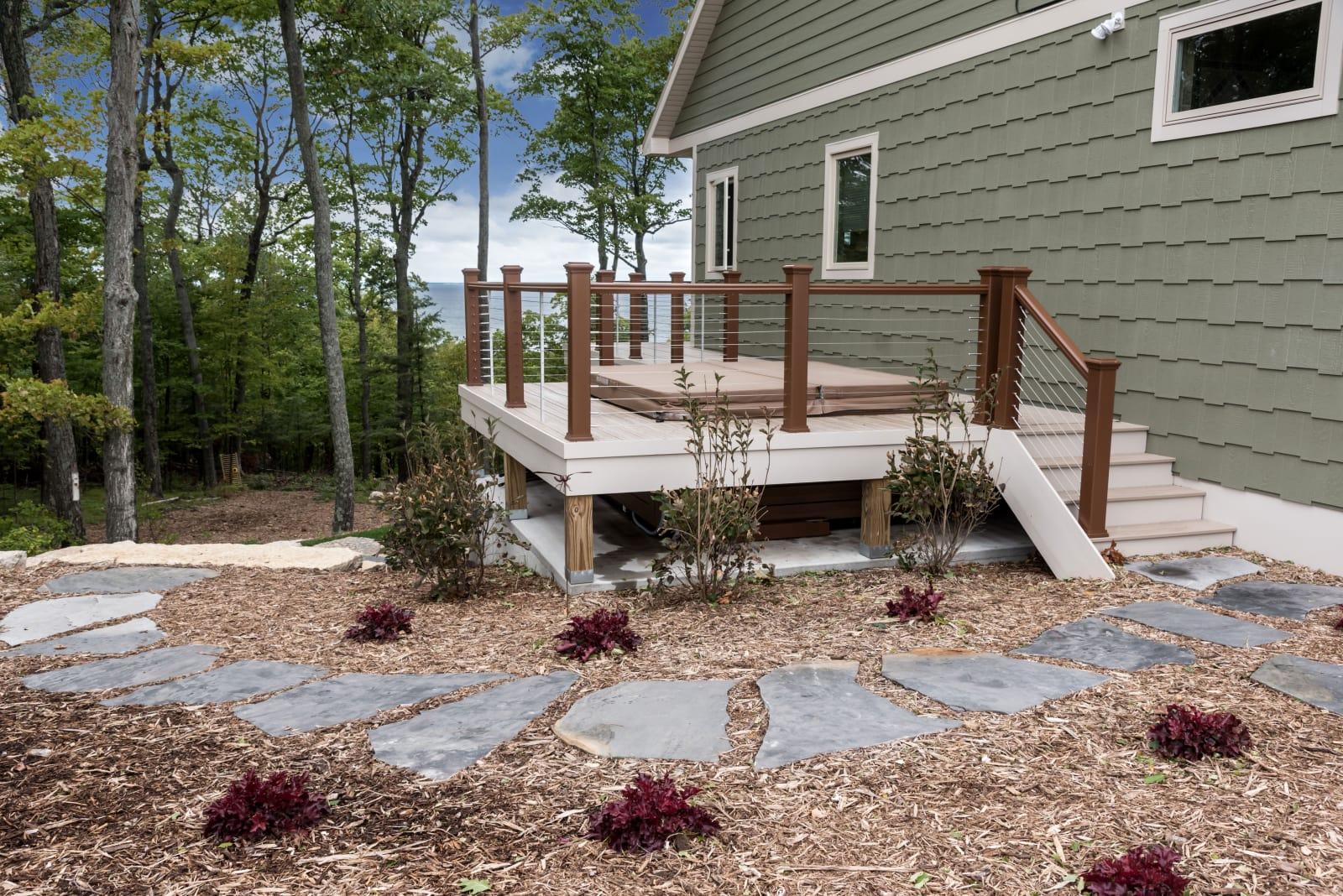 Van's Lumber Photography Exterior Rock Path