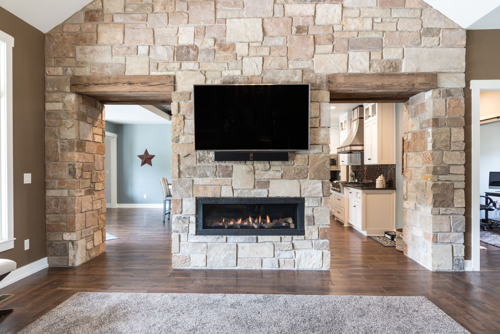 Van's Lumber Photography Living Room Fireplace