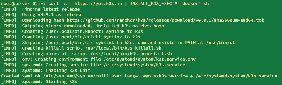 安装 k3s