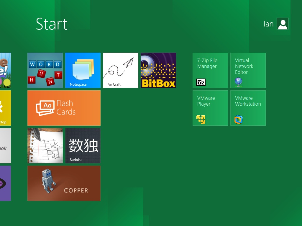 Windows 8 Metro UI Start