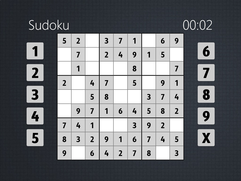 Windows 8 Metro UI Sudoku