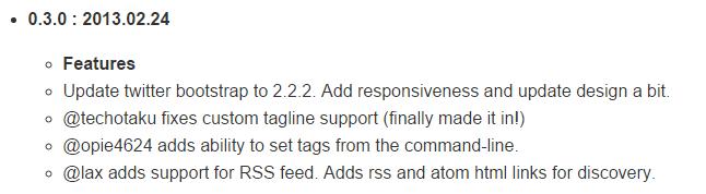 Jekyll Bootstrap Changelog 0.3.0