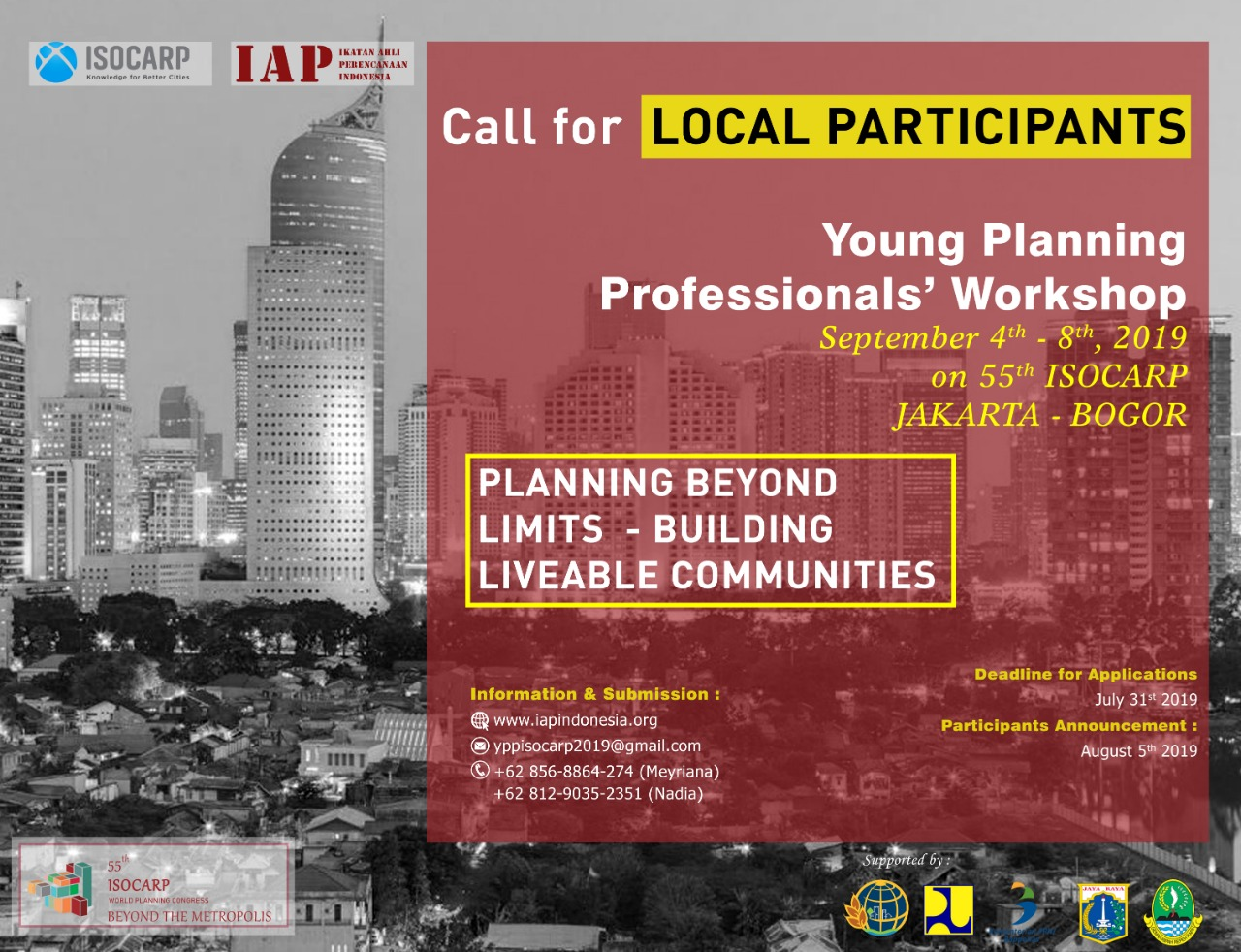 ISOCARP YPP's Workshop 2019- Call for Local Participants