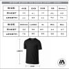 Bendigo Spirit Performance tee - sizing chart
