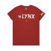 Perth Lynx 2020 womens tee - Red