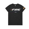 Townsville Fire Black womens Tee - Charcoal Marle