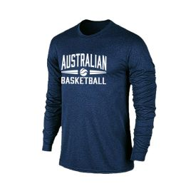 Performance Long Sleeve Navy Tee