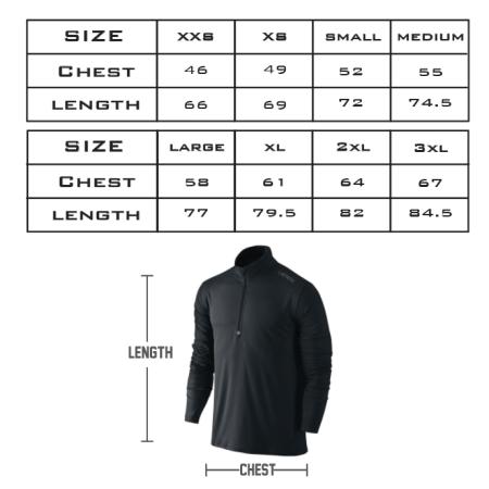 Qtr Zip Sizing Chart