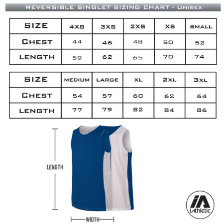 Hawthorn Titans - Reversible Uniform Singlet Sizing