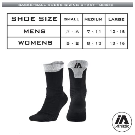 Hawthorn Titans - Socks Sizing Chart